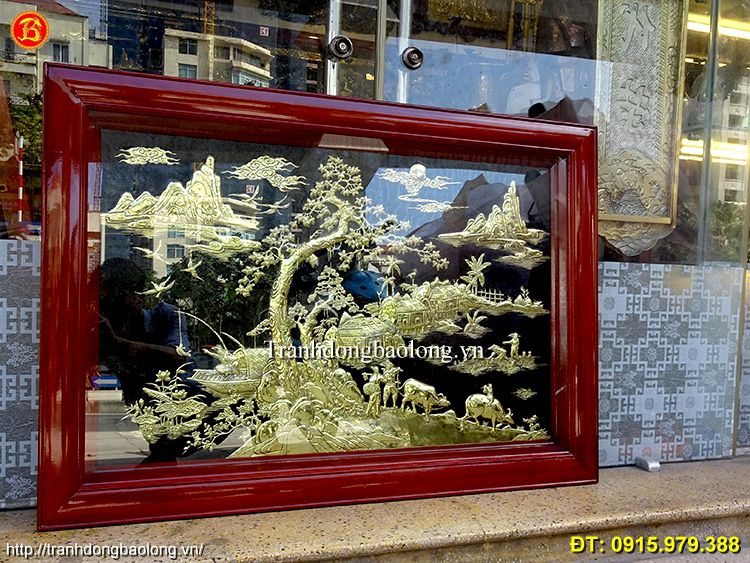 Tranh Đồng Quê Khổ Nhỏ Dài 1m07 x 75cm