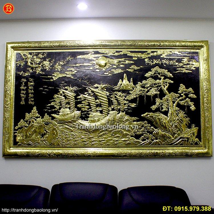Tranh Thuận Buồm Xuôi Gió khung liền đồng