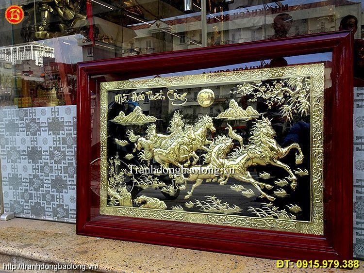 Tranh Đồng Bát Mã Phong Thuỷ Khổ Nhỏ.