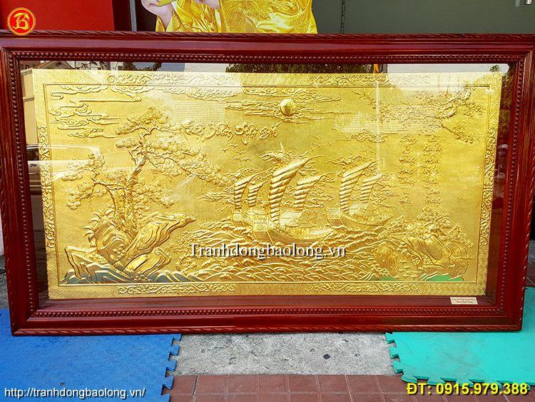 Tranh Thuận Buồm Xuôi Gió Mạ Vàng Dài 1m55