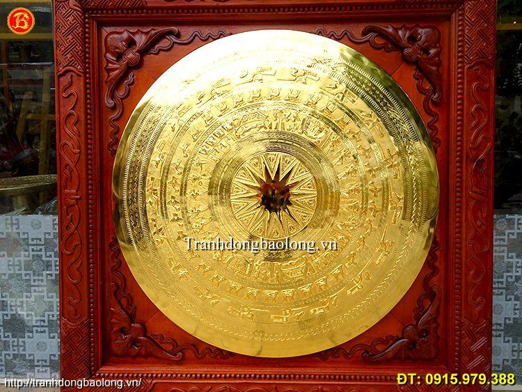 Tranh Mặt Trống Treo Tường mạ vàng 24k