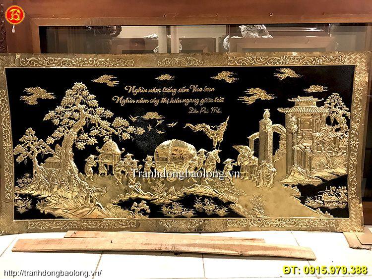 Tranh Đồng Treo Đền Thờ dài 2m31 hàng đặt